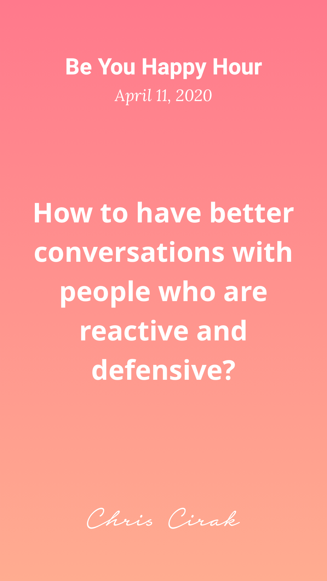 How to have better conversations with people who are highly reactive?